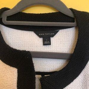 Ann Taylor Jackets & Coats - Ann Taylor Textured Tweed Open Jacket size Large